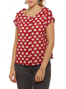 Blouse Nelly Nuage Rouge